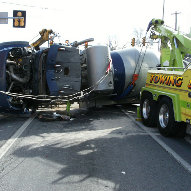picture of A1 towing services towing a heavy vehicle