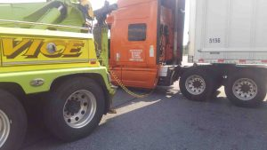 Heavy towing recovery with air compressor near Allentown
